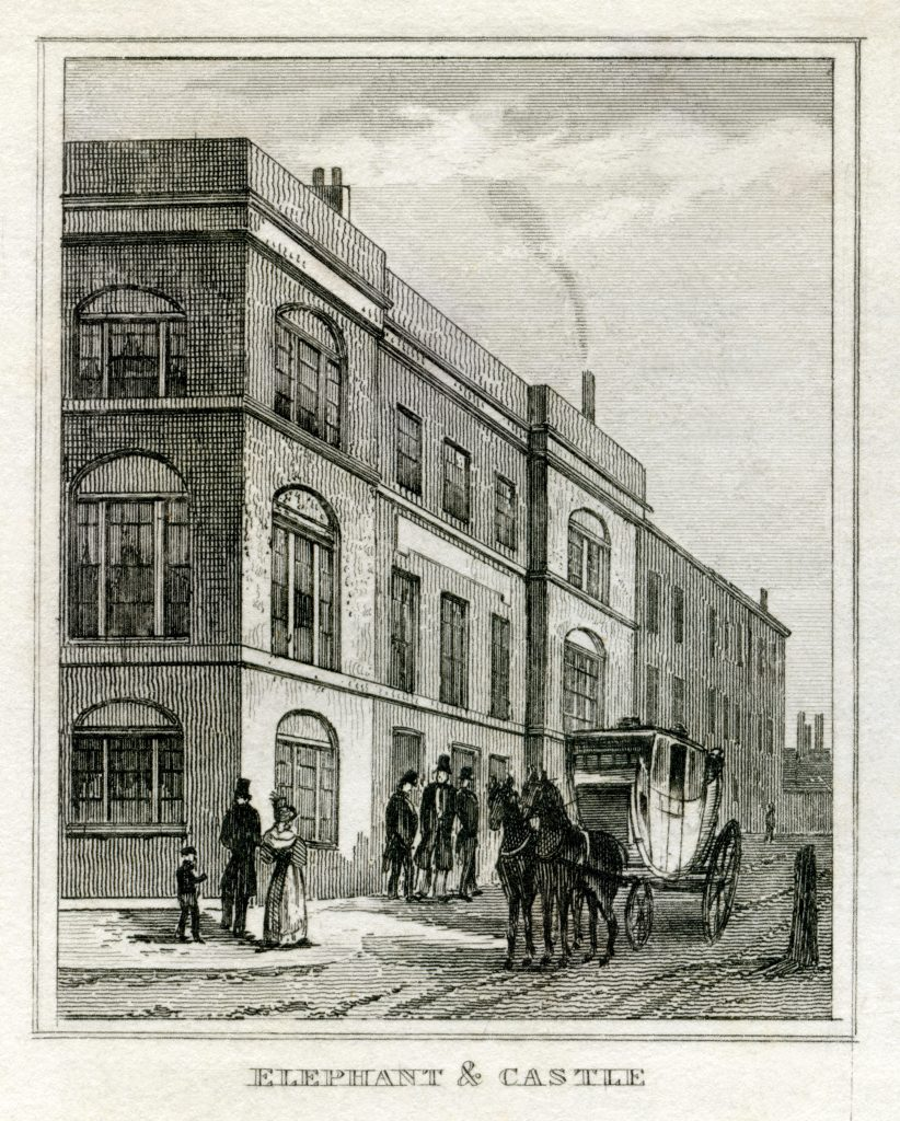 Elephant and Castle tavern, London-1835